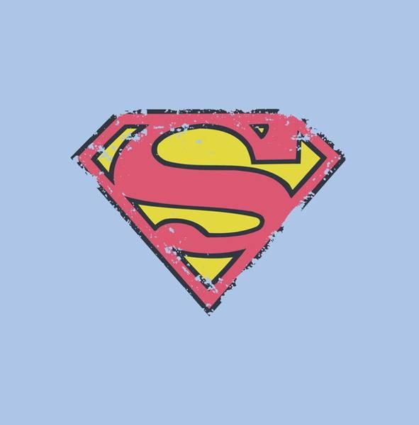 Metropolis Digital Art - Superman - Distressed Shield by Brand A