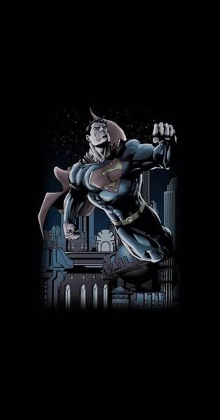 Metropolis Digital Art - Superman - Night Fight by Brand A