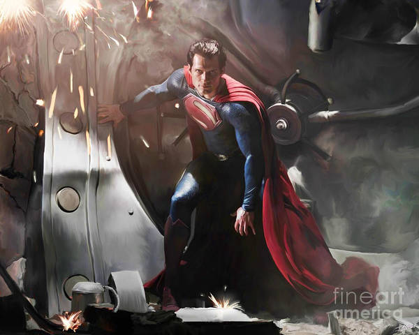 Man Of Steel Wall Art - Painting - Superman by Paul Tagliamonte