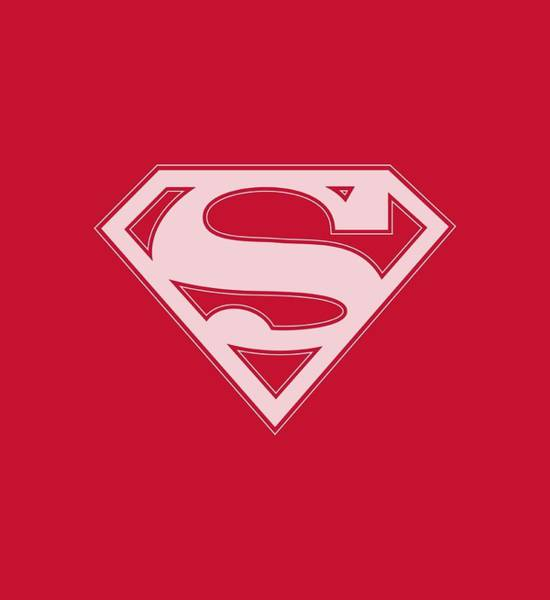 Kent Wall Art - Digital Art - Superman - Red And White Shield by Brand A