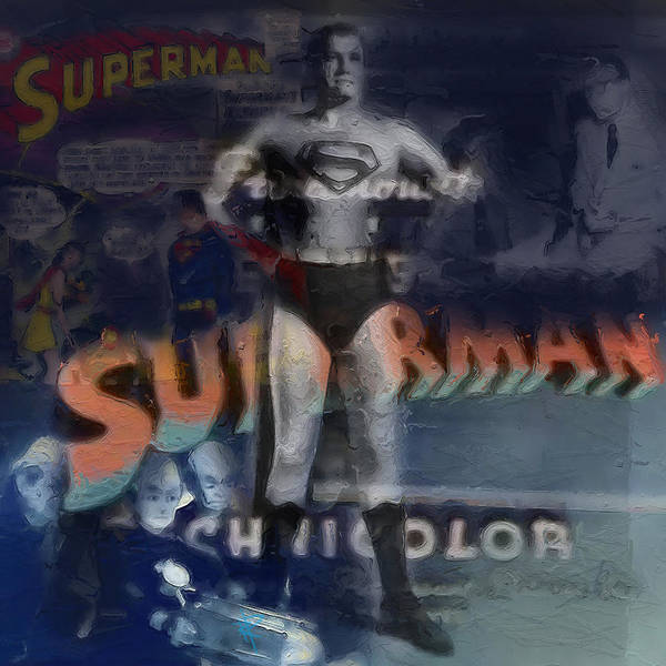 Super Hero Mixed Media - Superman by Russell Pierce