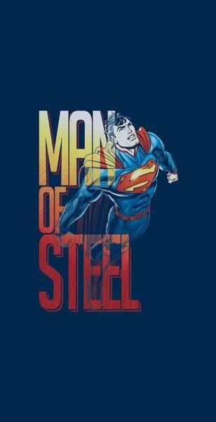 Metropolis Digital Art - Superman - Steel Flight by Brand A
