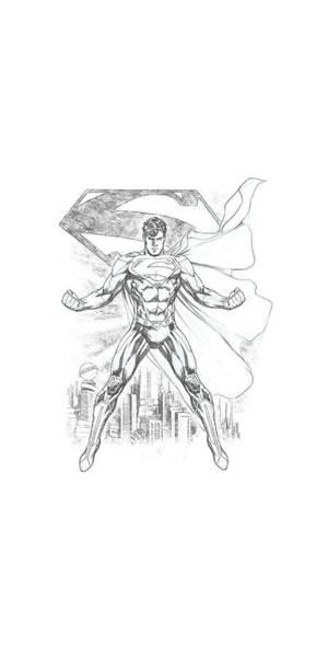 Metropolis Digital Art - Superman - Super Sketch by Brand A