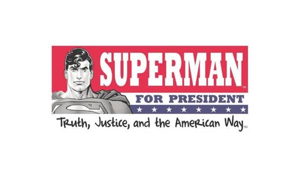 Metropolis Digital Art - Superman - Superman For President by Brand A