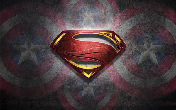 Superman Symbol Digital Artwork Art Print