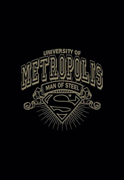 Metropolis Digital Art - Superman - University Of Metropolis by Brand A