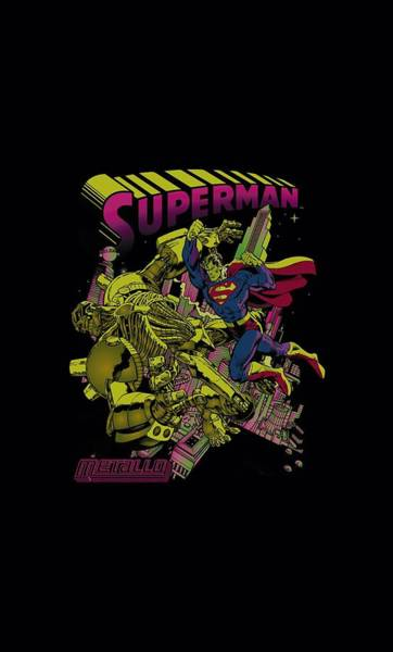 Metropolis Digital Art - Superman - Versus Metallo Blacklight by Brand A