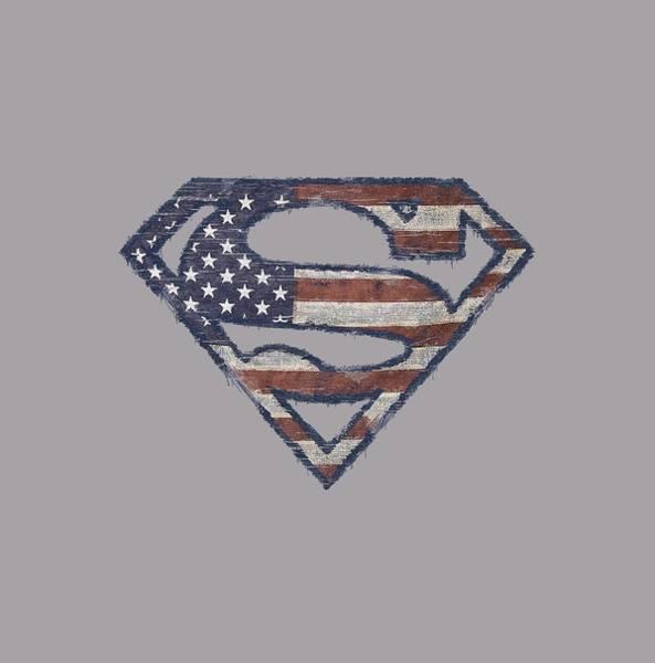 Metropolis Digital Art - Superman - Wartorn Flag by Brand A
