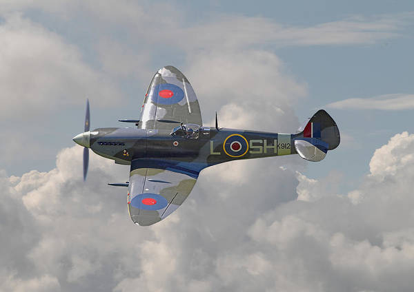 Wall Art - Digital Art - Supermarine Spitfire by Pat Speirs