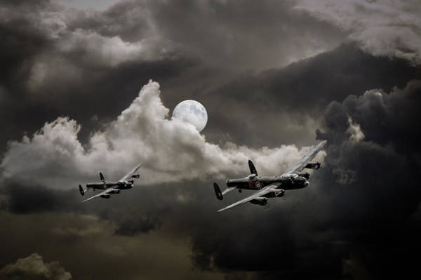 Photograph - Supermoon Lancasters by Gary Eason