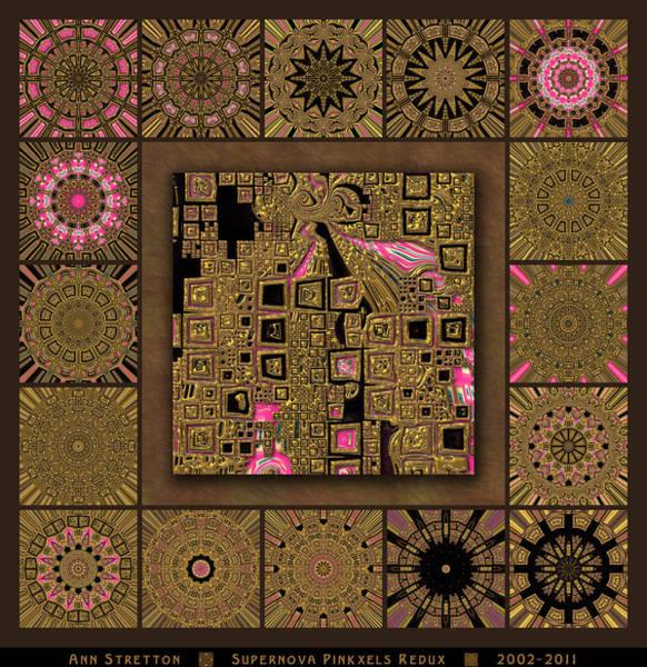 Supernova Pinkxels Redux  Art Print