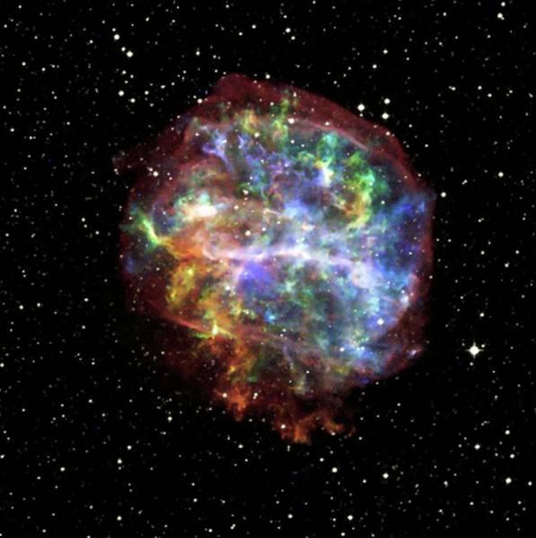 0 Photograph - Supernova Remnant G292.0+1.8 by Nasa/cxc/penn State/s. Park Et Al/pal Obs Dss/science Photo Library