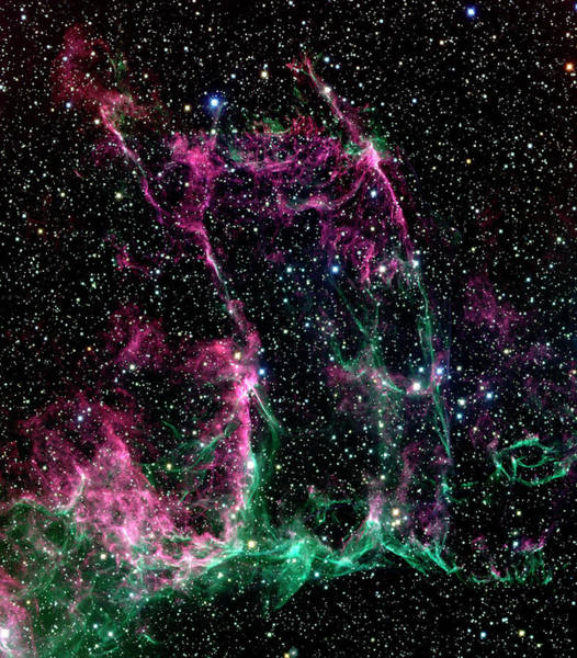 Canada-france-hawaii Telescope Wall Art - Photograph - Supernova Remnant Ngc 6995 by Canada-france-hawaii Telescope/jean- Charles Cuillandre/science Photo Library