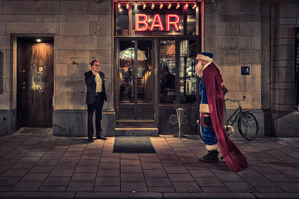 Bar Wall Art - Photograph - Supersanta by Martin Johansson