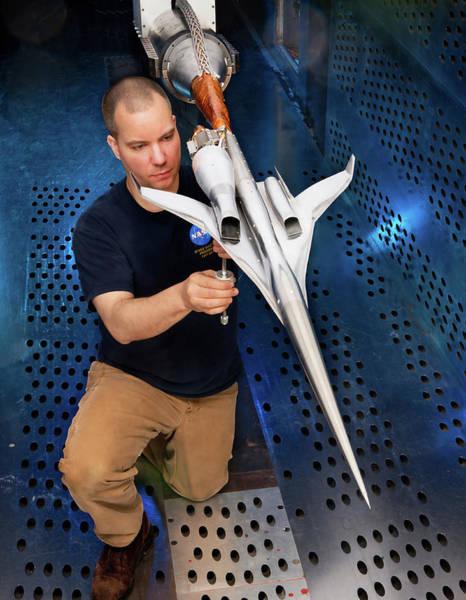 Technician Photograph - Supersonic Plane Concept Testing by Nasa/quentin Schwinn