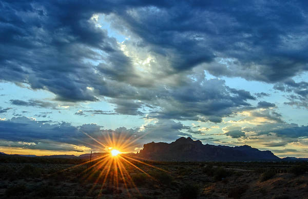 Photograph - Superstition Mountain Sunrise by Tam Ryan