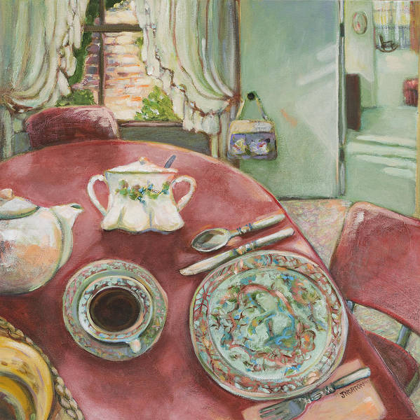 Dinner Painting - Supper At 5pm by Jen Norton