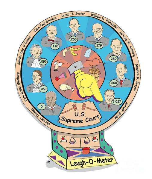 Supreme Court Laugh-o-meter Art Print