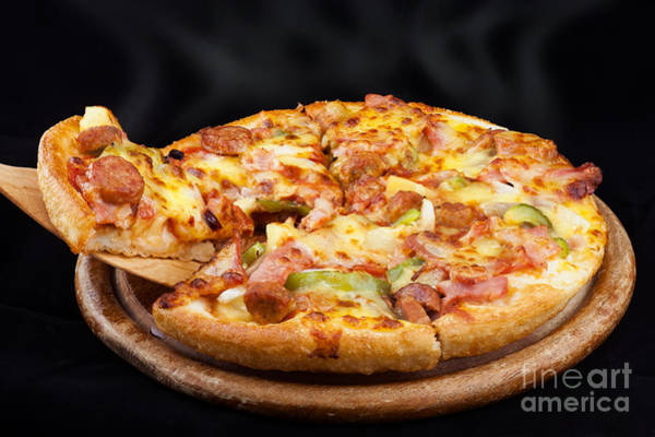 Hearties Photograph - Supreme Hot Pizza  by Anek Suwannaphoom