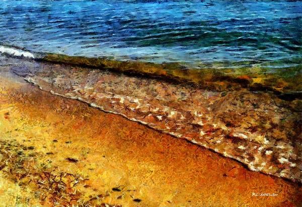 Painting - Sur La Plage by RC DeWinter