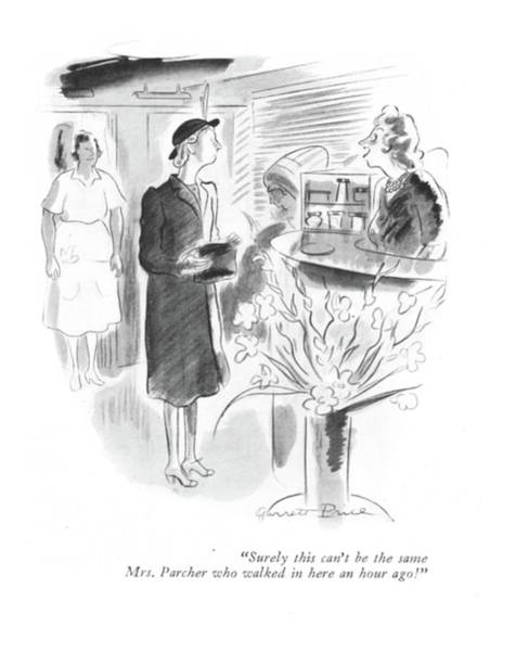 1941 Drawing - Surely This Can't Be The Same Mrs. Parcher Who by Garrett Price