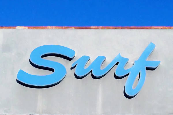 Cursive Photograph - Surf by Art Block Collections