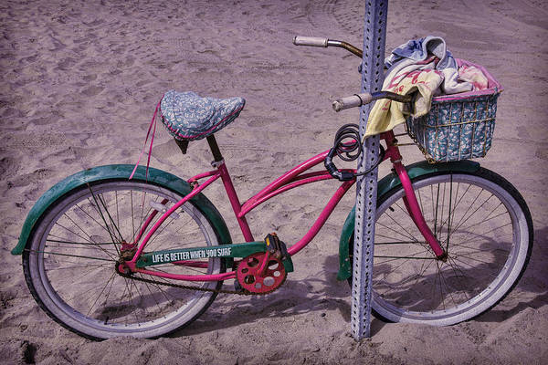 Spokes Photograph - Surf Bike by Garry Gay