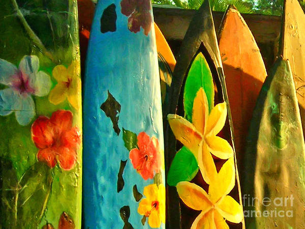 Photograph - Surf Boards by Wingsdomain Art and Photography