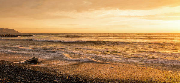 Lima Photograph - Surf On Beach At Dusk, Playa Waikiki by Panoramic Images