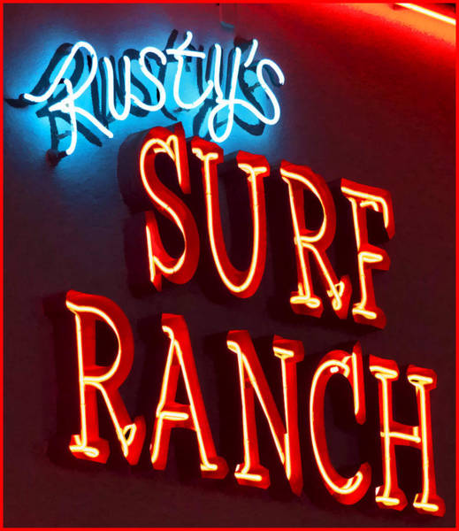 Photograph - Surf Ranch Sign by Chuck Staley