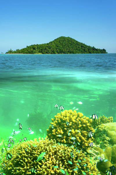 Island In The Sky Photograph - Surface And Underwater View by The Best Pictures Come From A Sincere Heart
