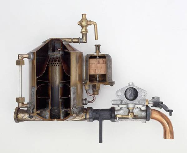 Cross Section Photograph - Surface Carburettor by Dorling Kindersley/uig