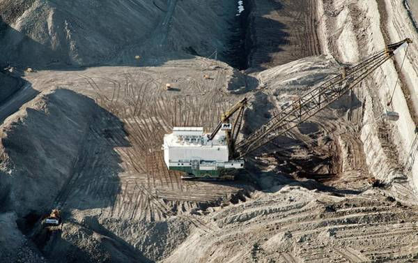 Excavator Photograph - Surface Coal Mine by Jim West
