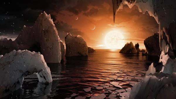 Wall Art - Photograph - Surface Of Trappist-1f Exoplanet by Nasa/jpl-caltech/t. Pyle (ipac)/science Photo Library