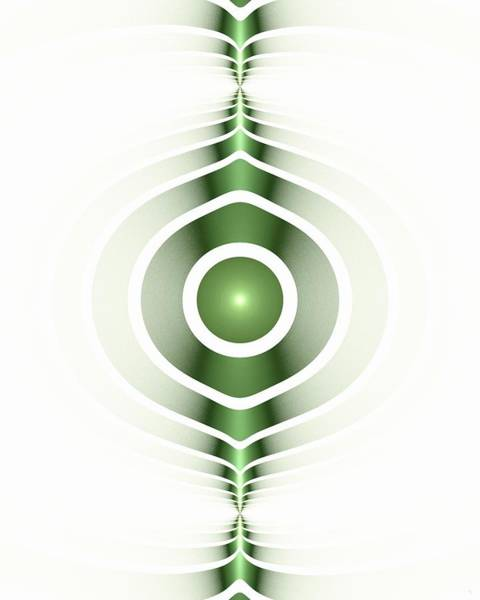 Digital Art - Surface Waves - Green by Anastasiya Malakhova