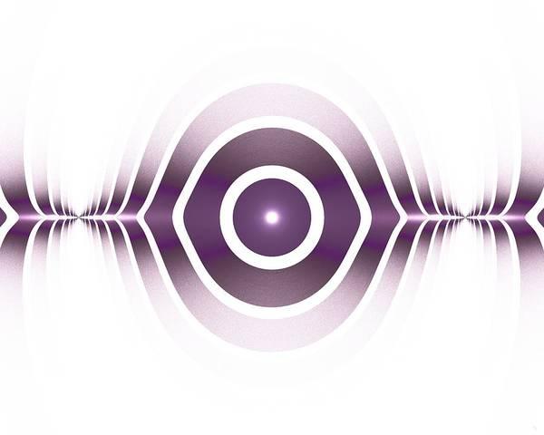 Digital Art - Surface Waves - Purple by Anastasiya Malakhova