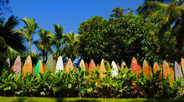 Photograph - Surfboard Fence - Maui by Paulette B Wright