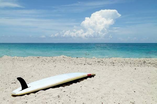 Photograph - Surfboard On Beach by Rudy Umans