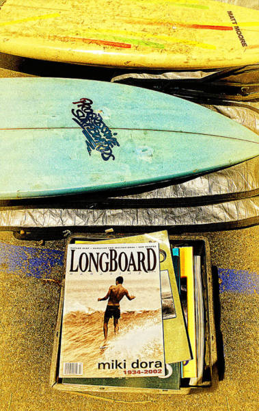 Wall Art - Photograph - Surfboards And Magazines by Ron Regalado