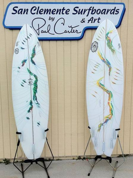Painting - Surfboards In San Clemente by Paul Carter