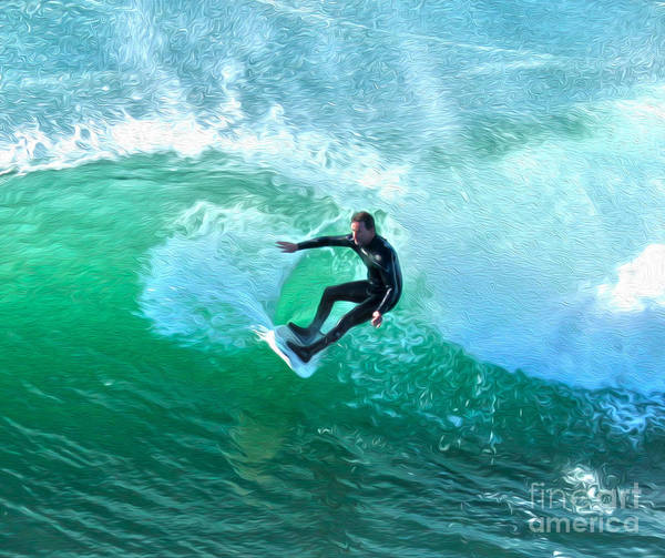 Painting - Surfer - 05 by Gregory Dyer