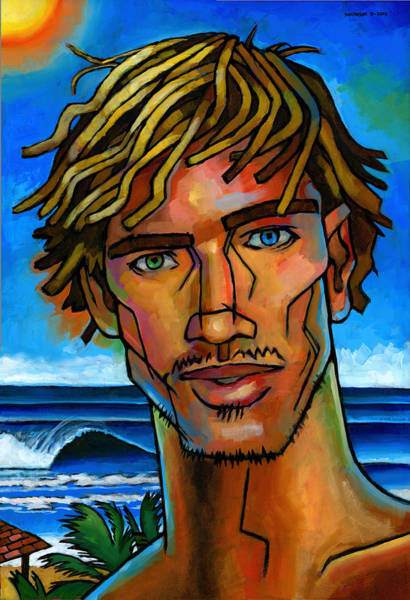 Dude Wall Art - Painting - Surfer Dude by Douglas Simonson
