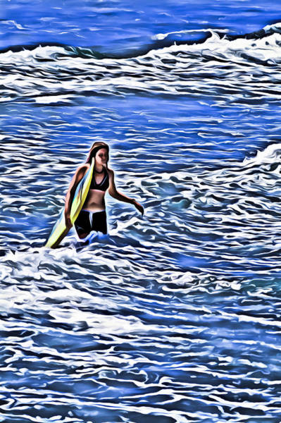 Photograph - Surfer Girl by Patrick M Lynch