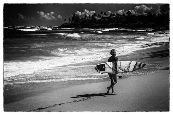 Surfer Girl Wall Art - Photograph - Surfer Girl by Theresa Tahara