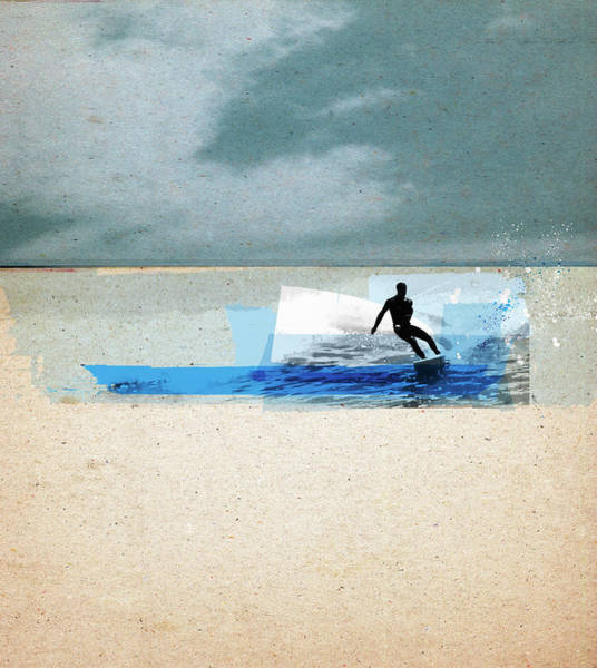 Lifestyles Digital Art - Surfer In Ocean by Caroline Tomlinson