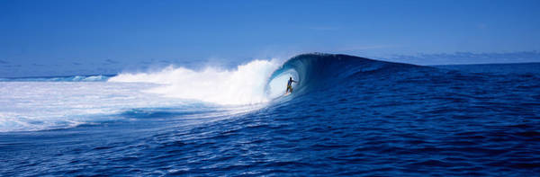 French Polynesia Photograph - Surfer In The Sea, Tahiti, French by Panoramic Images