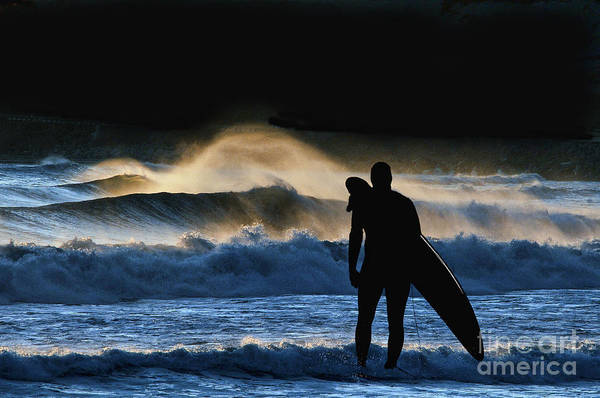 Photograph - Surfer Looking At The Surf by Dan Friend