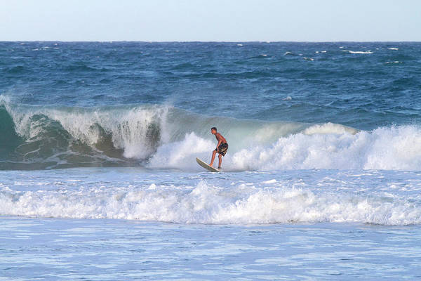 R Photograph - Surfer Riding Pacific Ocean Waves by David R. Frazier