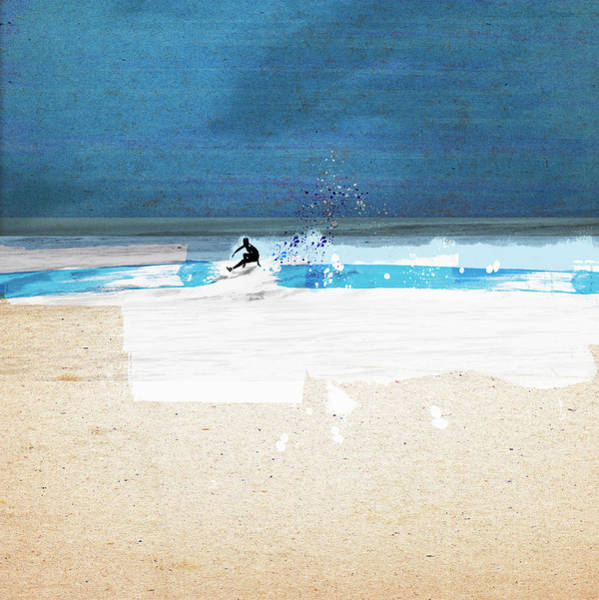 Lifestyles Digital Art - Surfer Riding Wave In Ocean by Caroline Tomlinson