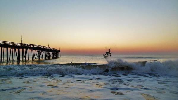 Standup Paddleboard Photograph - Surfer Sunrise 2 10/2 by Mark Lemmon